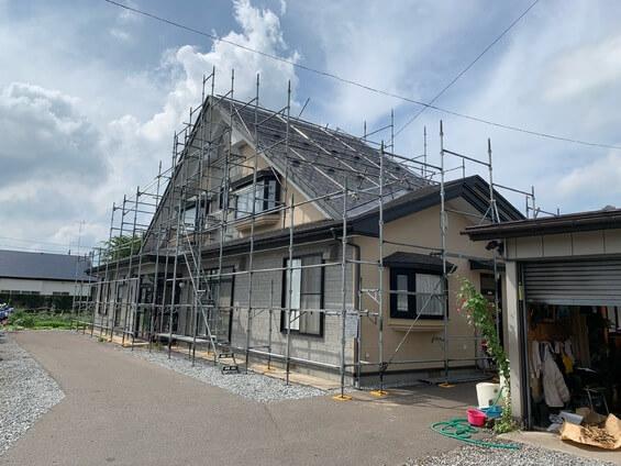 4_一般住宅塗装足場工事