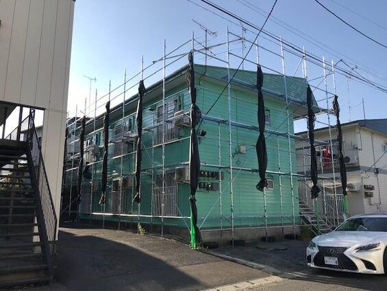 5_アパート塗装足場工事-3